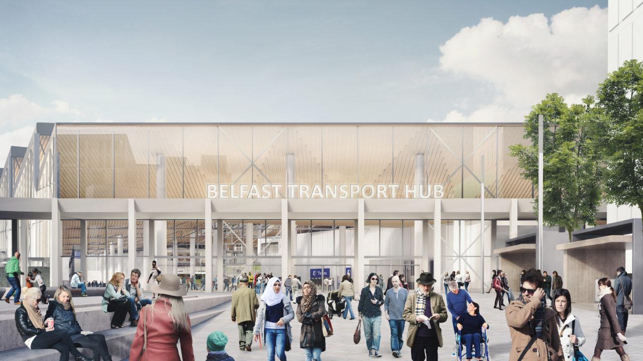 1527 BelfastTransportHub View02 Station square daylight R02